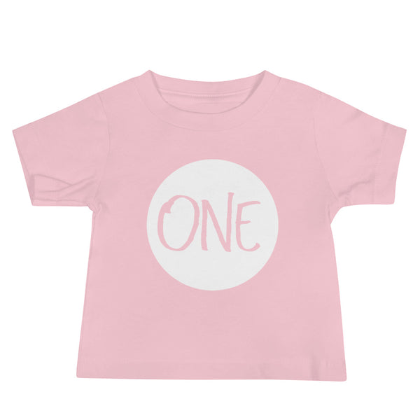 Baby 1st Birthday Jersey Short Sleeve Tee - Photo, Gift, Present, Props, Size: 6m - 2yr