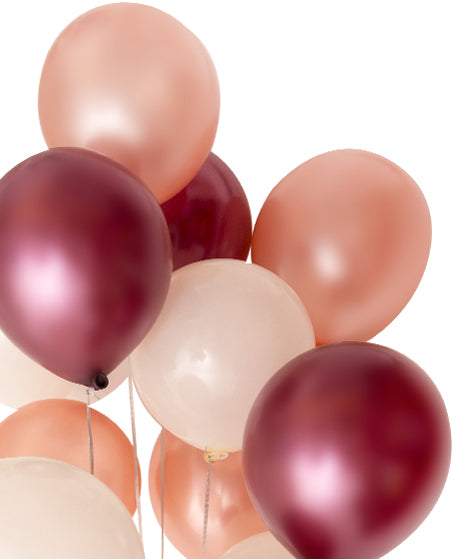Party Balloon Mix - Burgundy Rose Gold