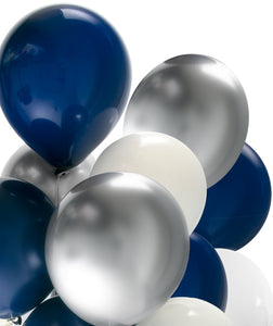Party Balloon Mix - Midnight Navy Chrome