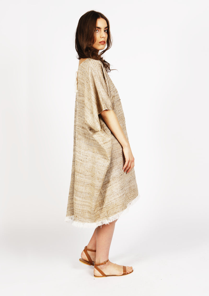 Affordable designer silk kaftan handmade