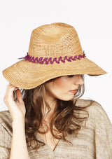 high end crocheted raffia panama sun hat