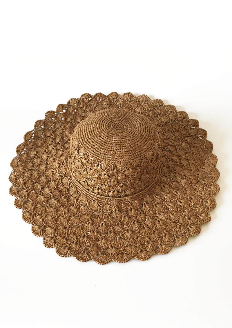Designer large retro sun hat for holiday