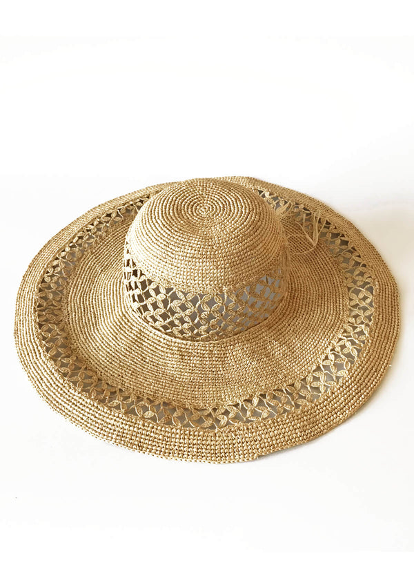 Large designer sun hat beach holiday accessories
