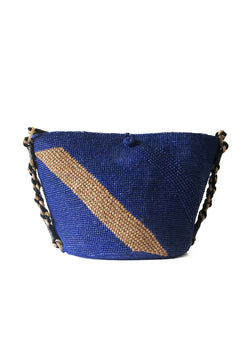 ANNABEL beach bag- Blue