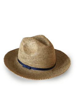 handmade raffia panama sun hat resortwear luxury travel