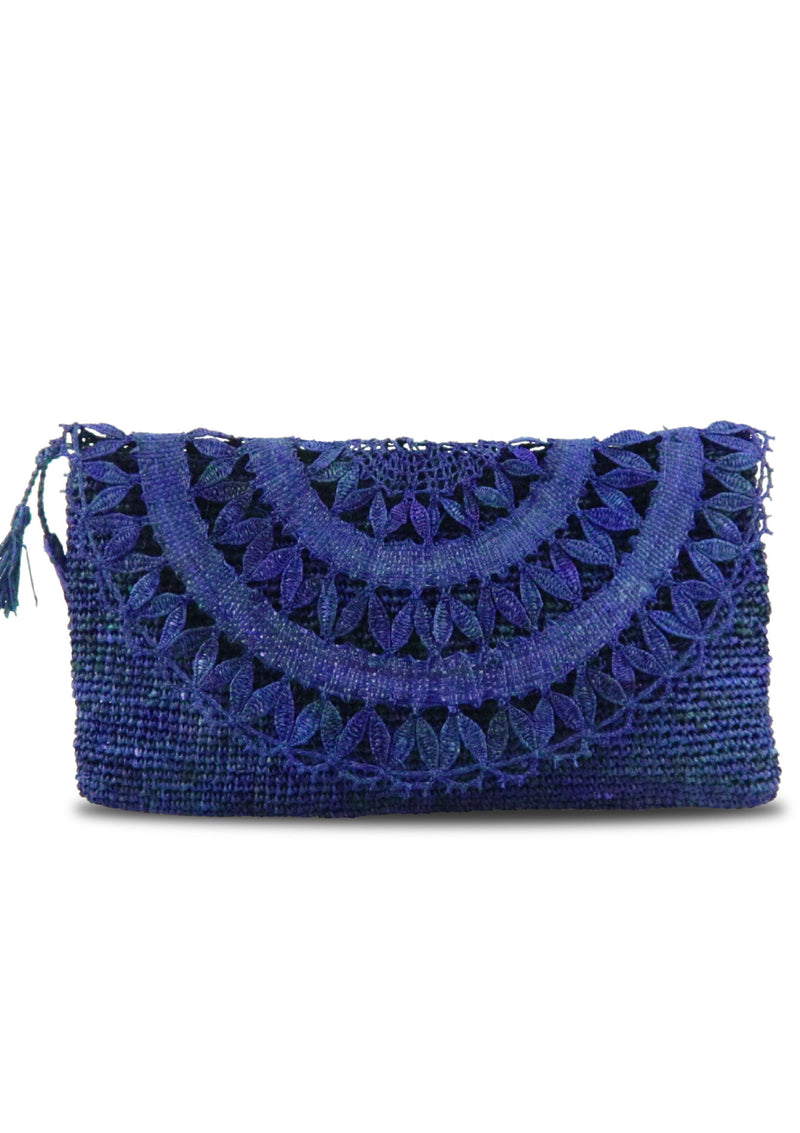 Luxury british designer Raffia handmade Beach Clutch bag with zip pocket