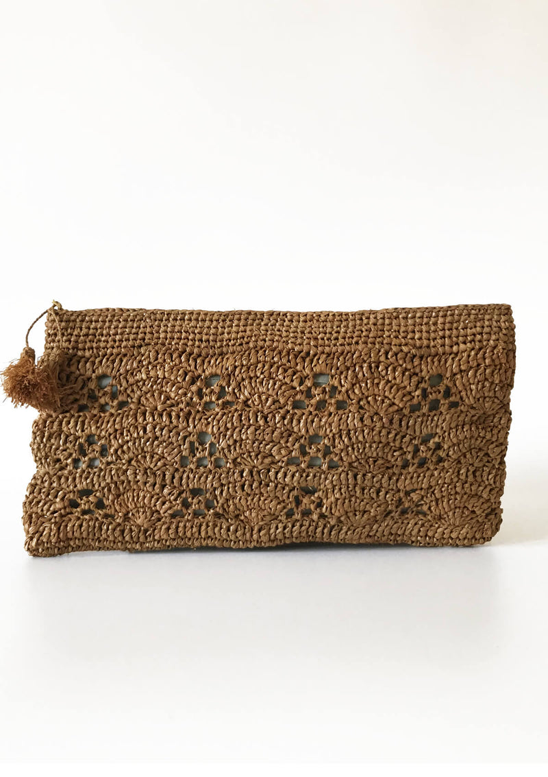 designer raffia purse wedding purse