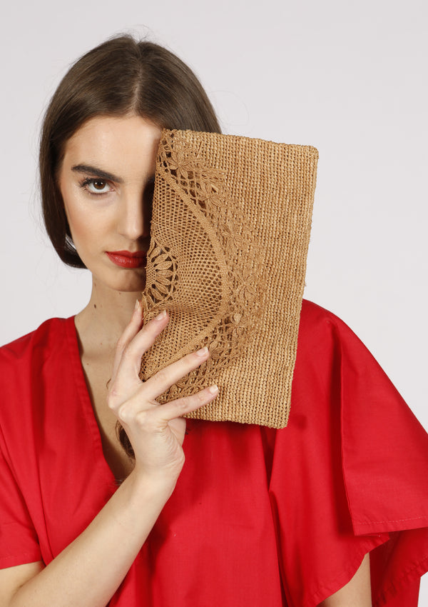 Luxury Raffia handmade Beachbag Clutch