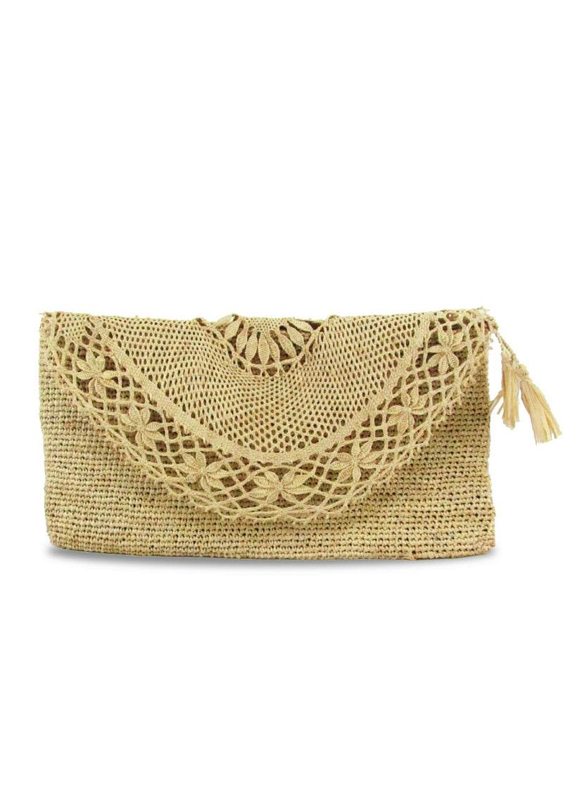 Designer clutch bag ethically made