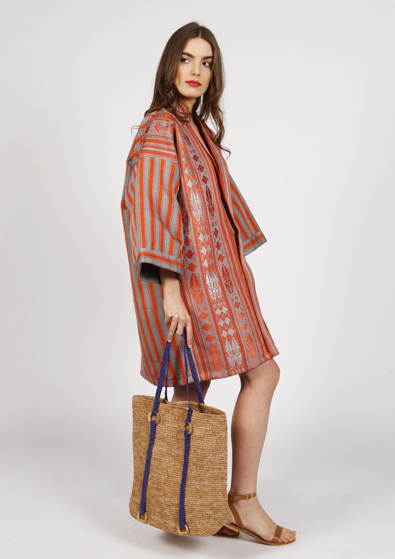 Raffia tote bag ethically made resortwear collection ss19