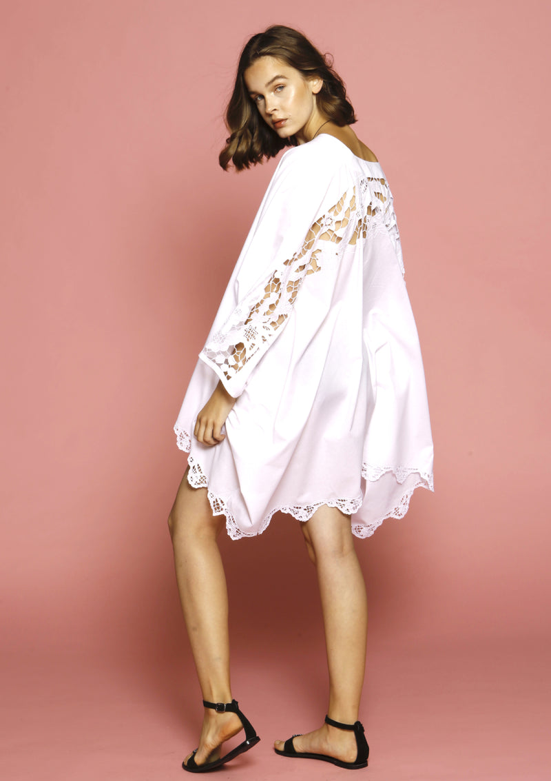 affordable designer beachwear hand embroidered cover-up dress