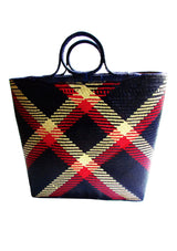 Beachwear accessories large straw basket