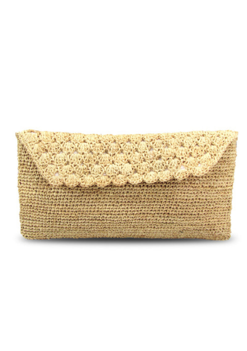 Luxury Raffia handmade Beach bag Clutch