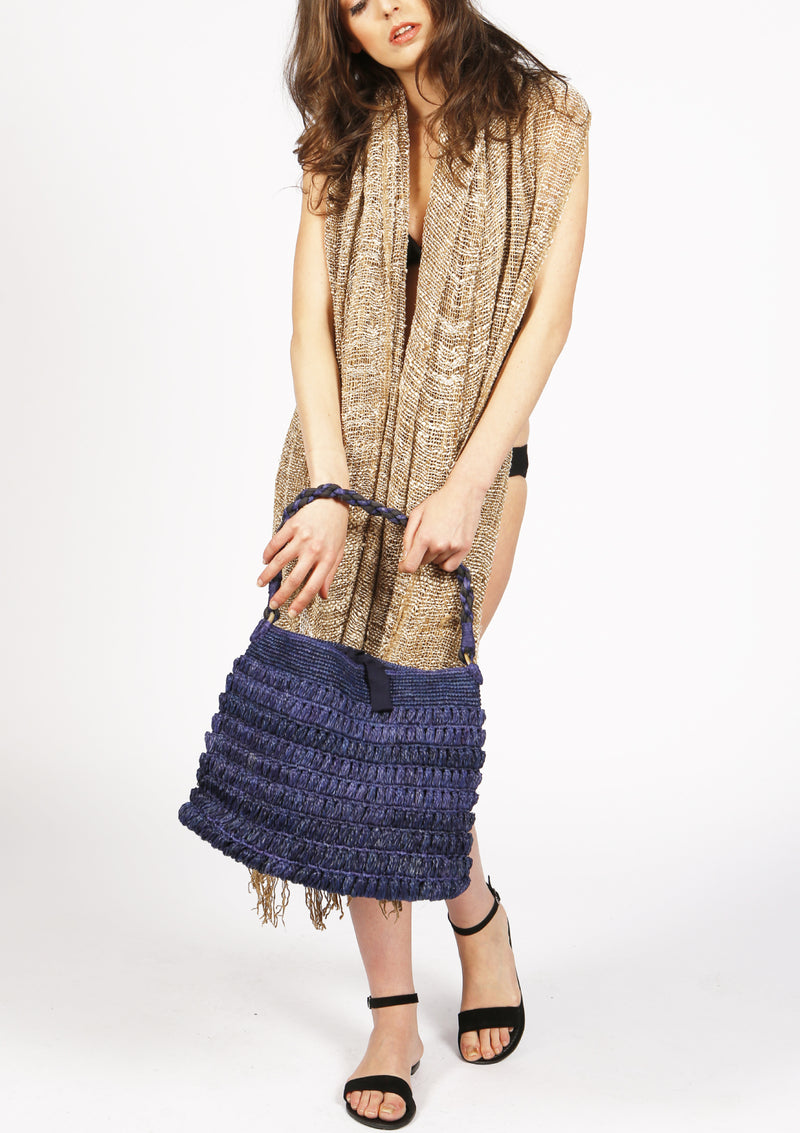 Handmade raffia beach bag resort wear holiday