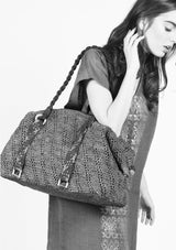 Designer women weekend bag holdall raffia for sale