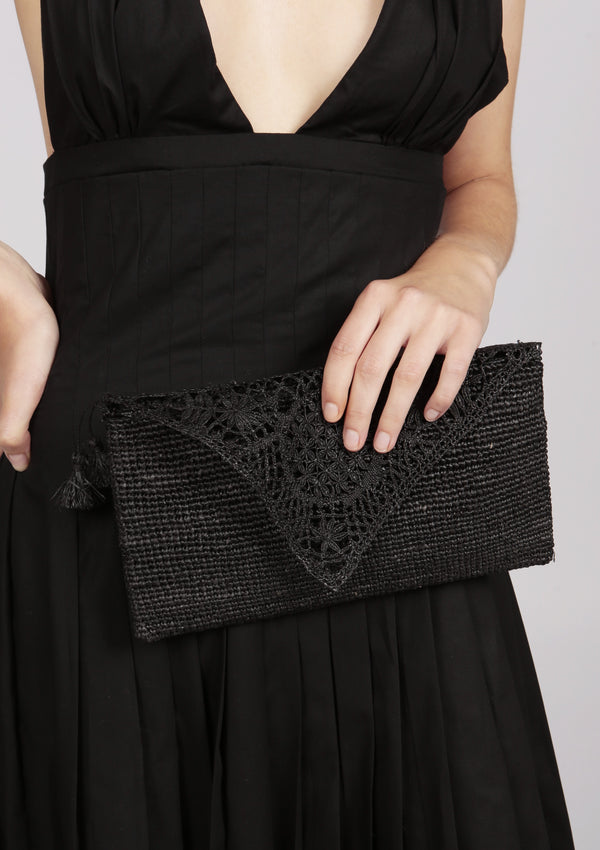 wedding raffia clutch