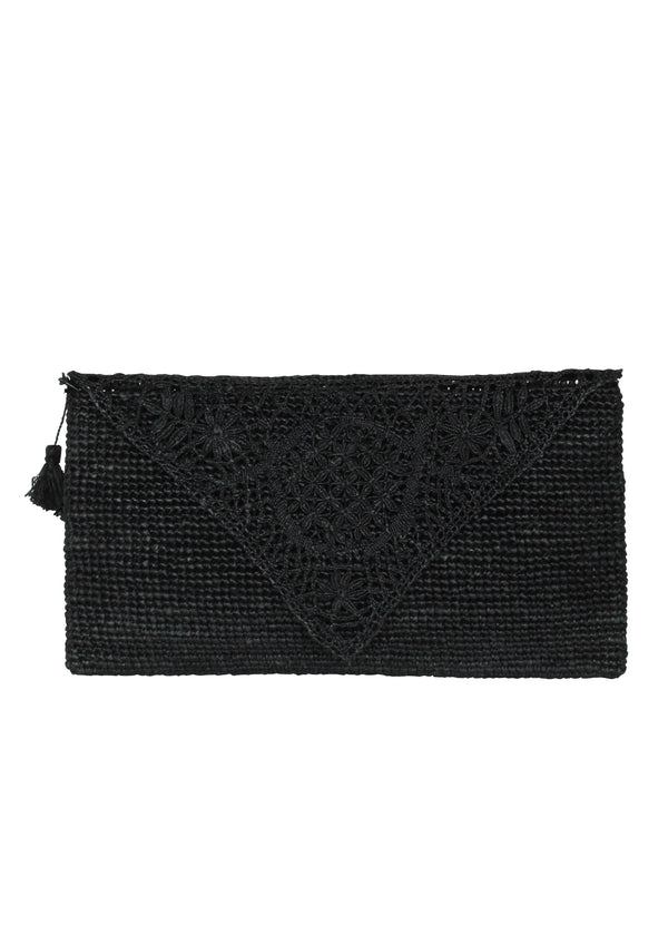 enveloppe black clutch bag