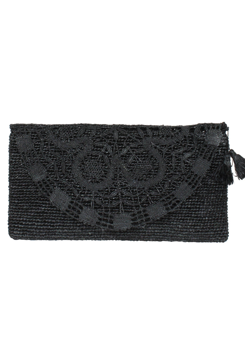 raffia bag clutch