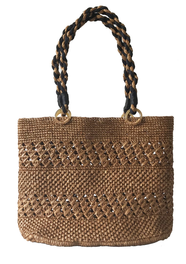 MEVA beach tote bag in brown