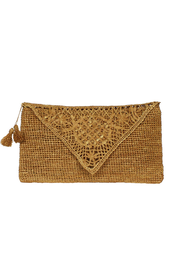 london designer raffia enveloppe clutch bag