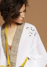 sustainable fashion silk kimono robe