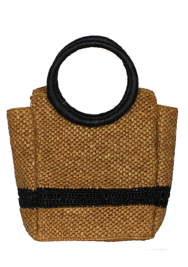 brown raffia designer bag