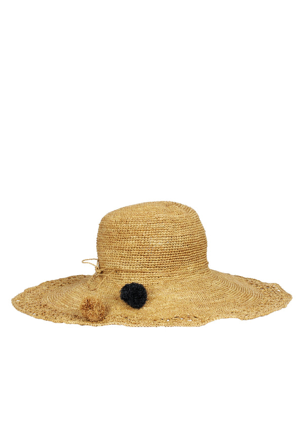 designer raffia brown sun hat
