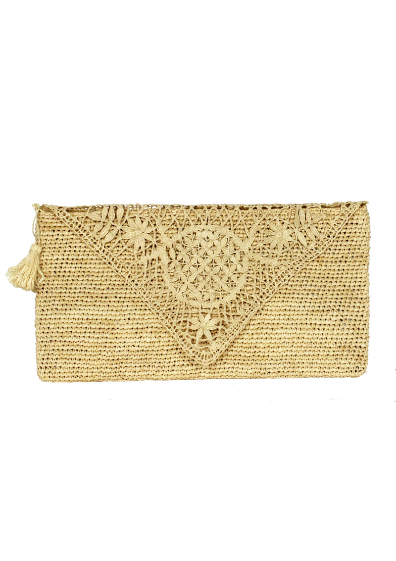 Maraina-London raffia clutch bag cocktail wedding bag