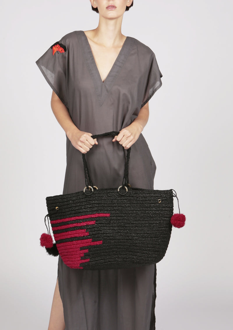 Maraina-London large raffia beach bag