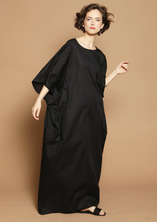 black kaftan beach dress resortwear
