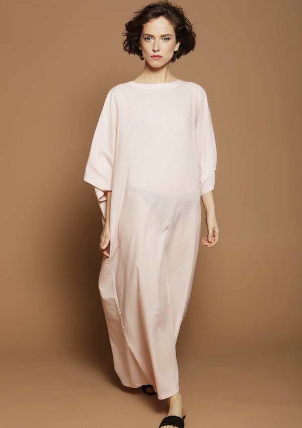light pink kaftan dress