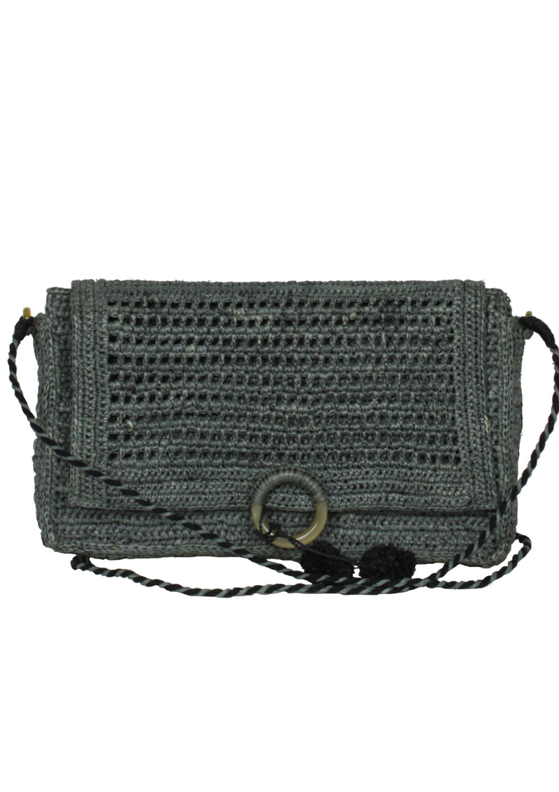 grey cross body bag ethically handmade