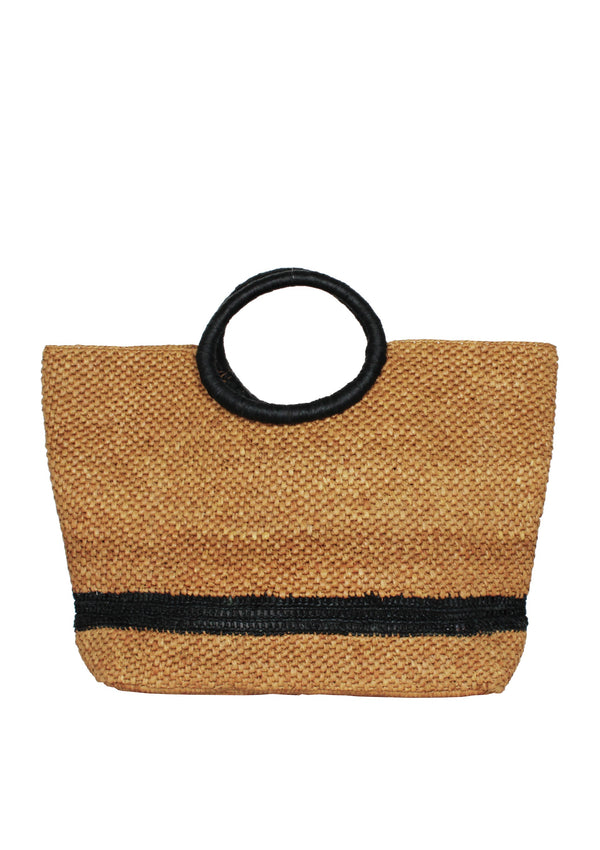 brown raffia beach bag