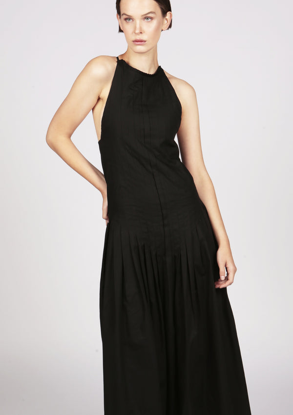 designer black evening cocktail dress