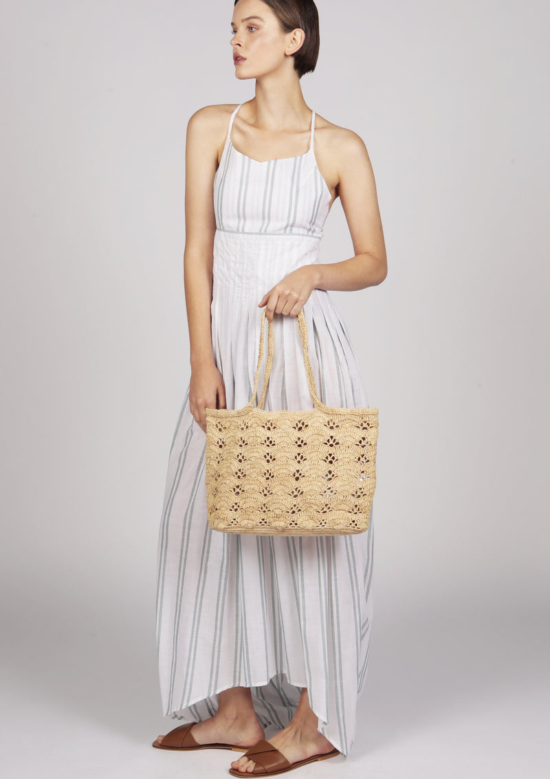 Maraina-London luxury beachwear pleated dress