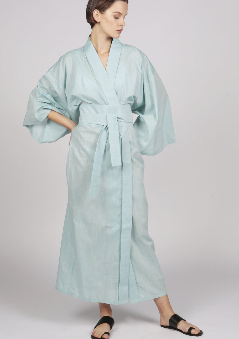 cotton embroidered kimono robe beachwear luxury resort