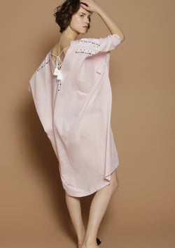pink cover-up beach dress