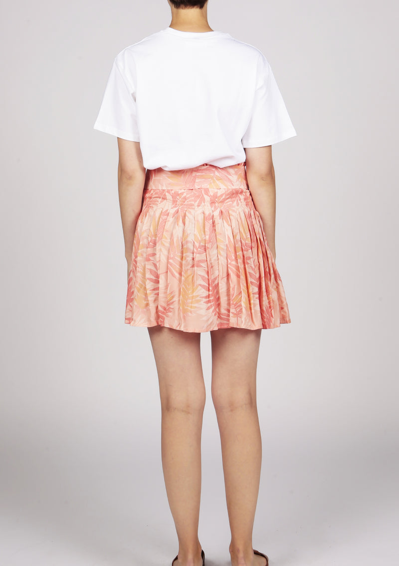 summer mini skirt plissee