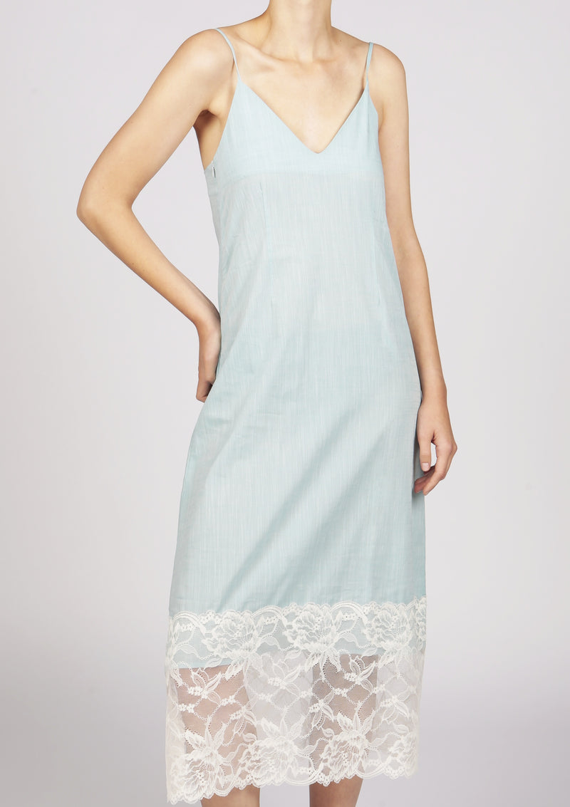 sustainable cotton dress sweetheart neck lace beach
