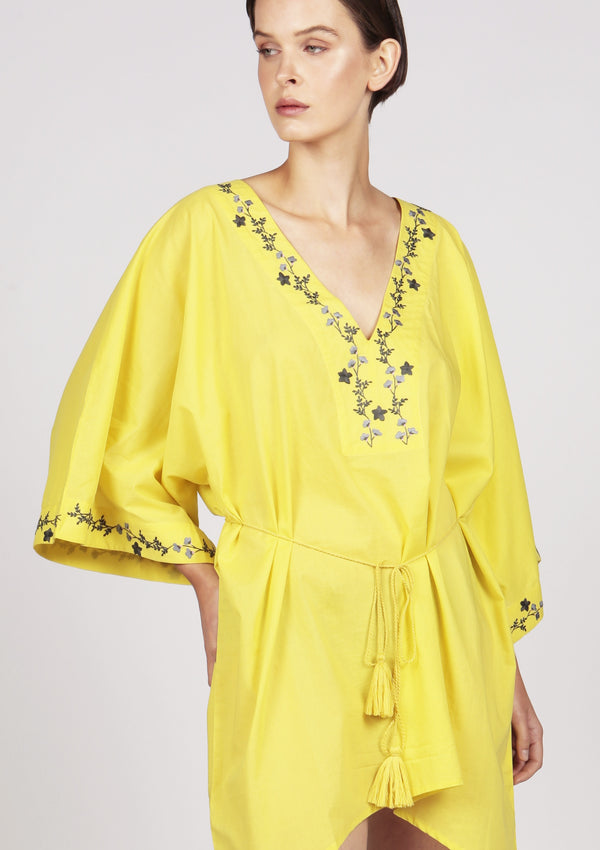 embroidered kaftan beach dress