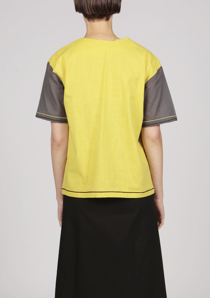 grey and yellow blouse modern design