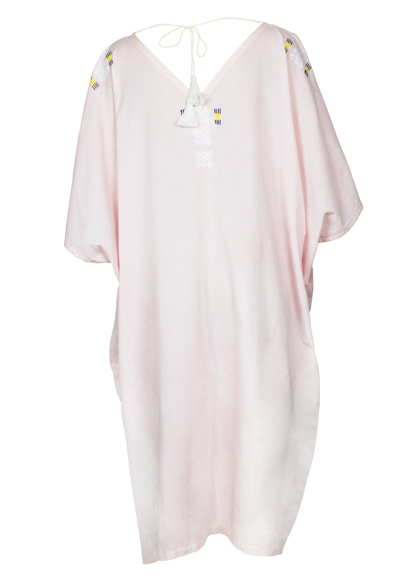GABRIELLE light pink cover-up dress with handmade embroidery