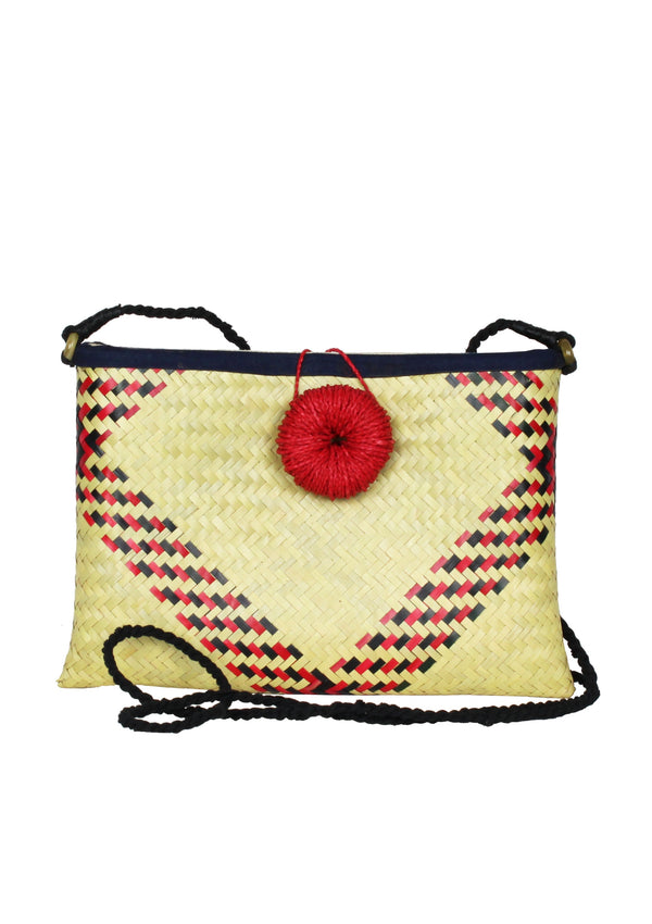 straw cross body clutch