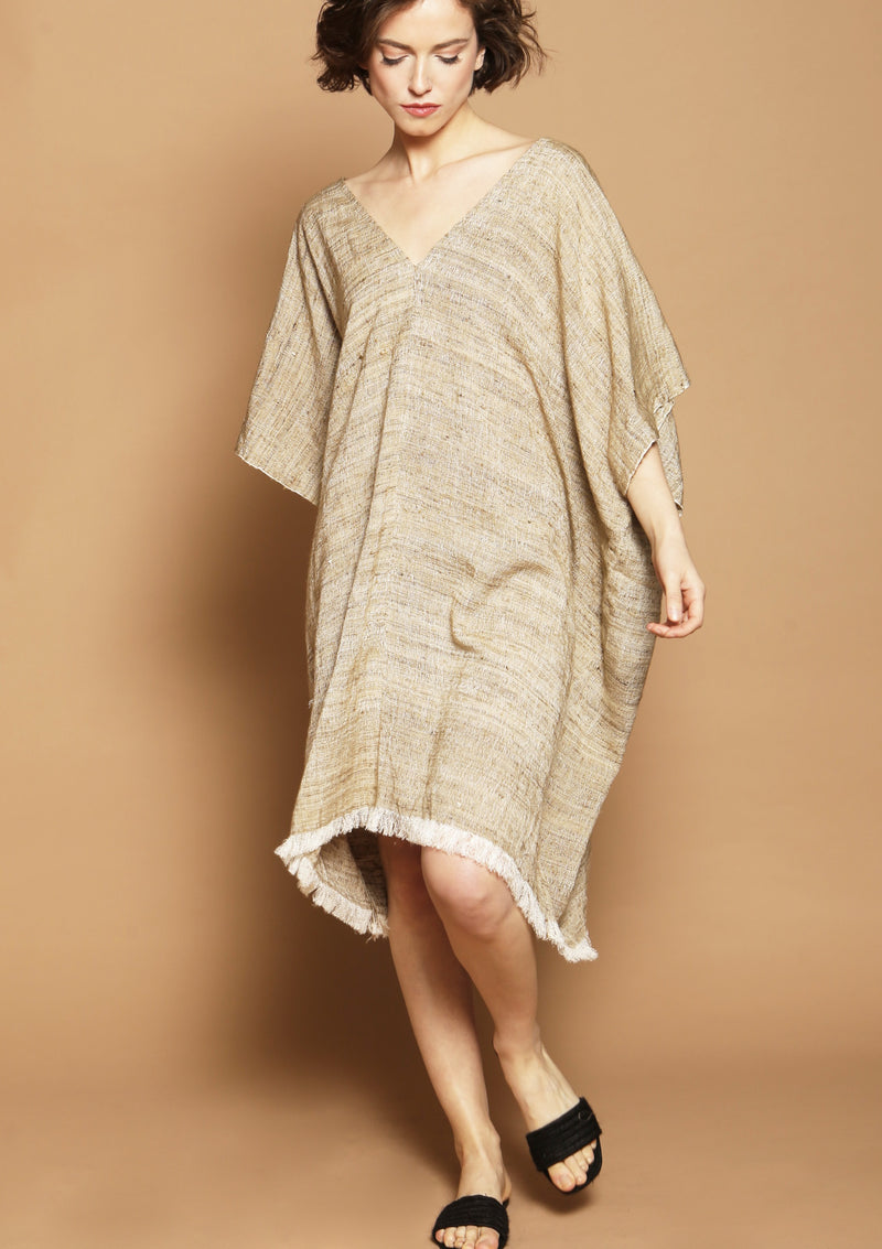 silk cover up dress ethical brand