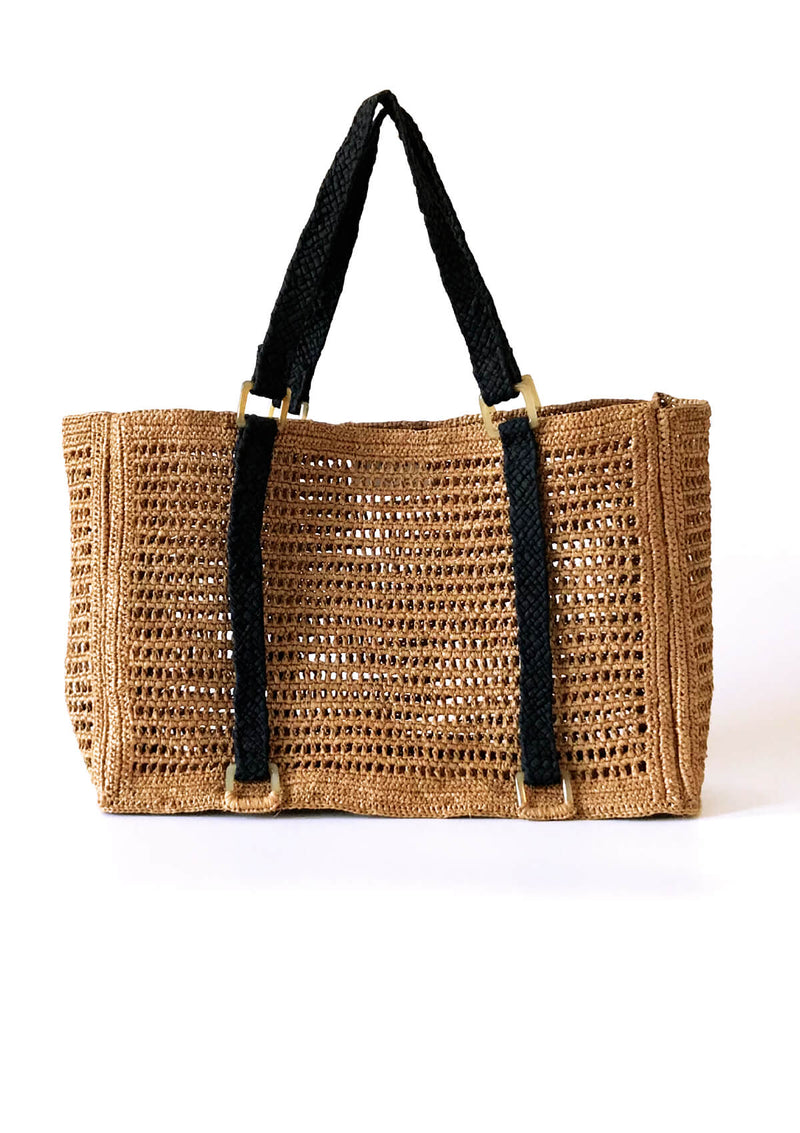 Brown raffia large bag resortwear luxury travel
