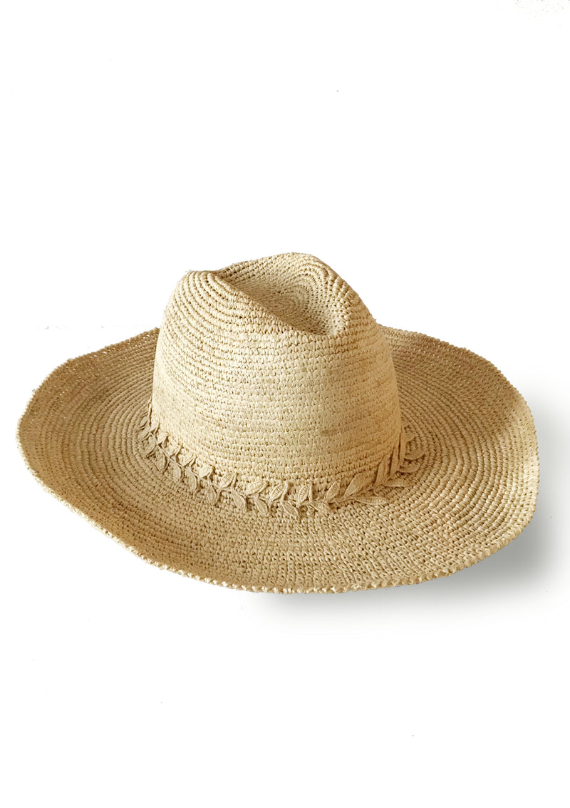 CASSANDRA panama hat- Natural or Brown