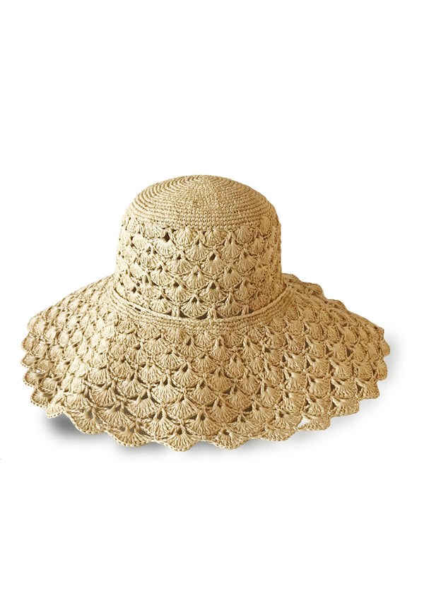 Designer beach raffia sun hat summer holiday