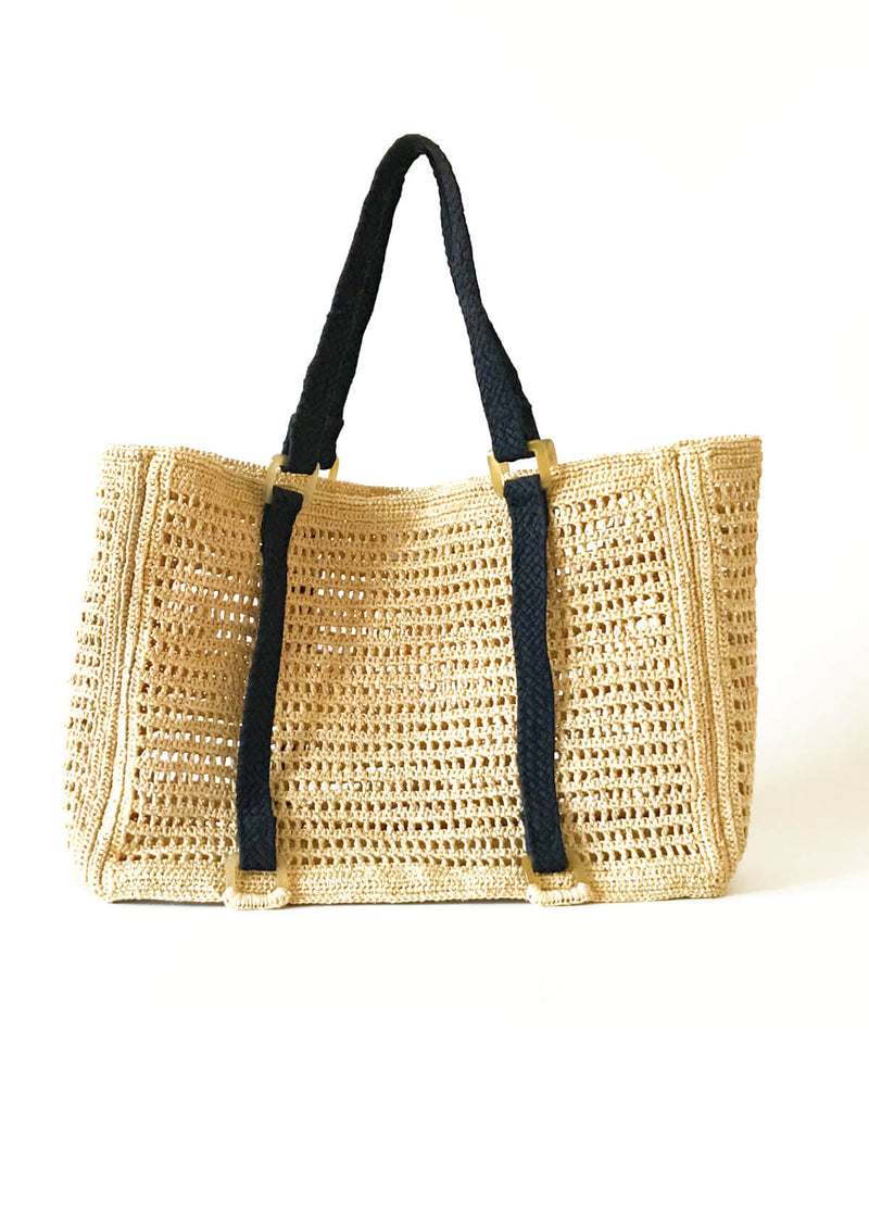 AGNES large beach bag- Natural