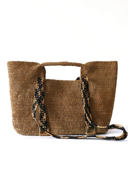 designer raffia bag with shoulder strap and storage for sale