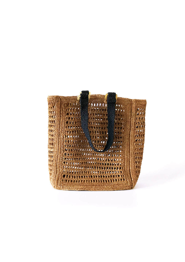 Designer small net beach bag for luxury holiday